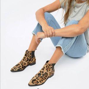 Like New Leopard Booties Sz 8
